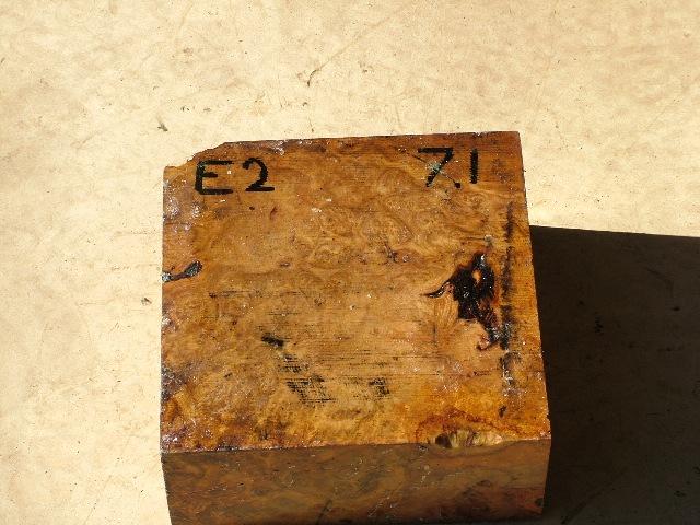 Euc Burl 9 x 9 x 4 (inches)