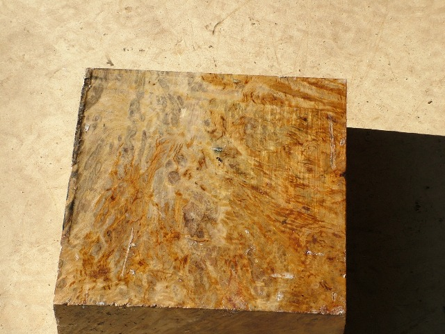 Euc Burl 10 x 10 x 3 (inches)