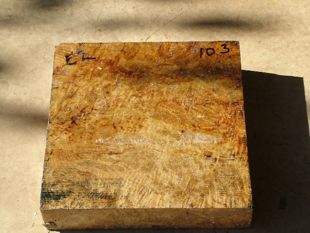 Euc Burl 13 x 13 x 3 (inches)