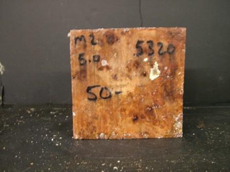 "Myrtle Burl Cut Block (6"" x 6"" x 3"")"""