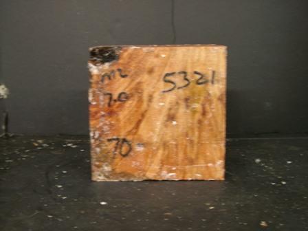 "Myrtle Burl Cut Block (6"" x 6"" x 4"")"""