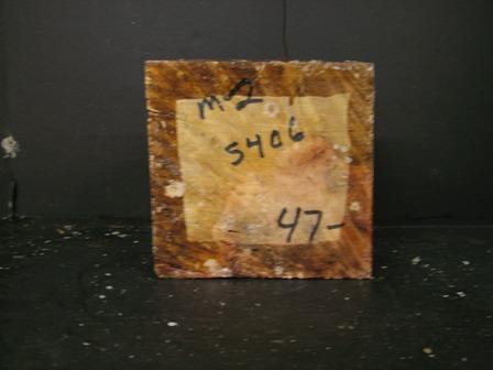 "Myrtle Burl Cut Block (7"" x 7"" x 3"")"""