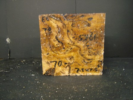 White Top Burl Cut Block (7.5 x 7.5 x 3)