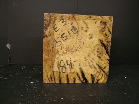 White Top Burl Cut Block (8 x 8 x 3)